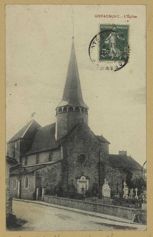 GIFFAUMONT-CHAMPAUBERT. Giffaumont. L'Église.Collection Raussin