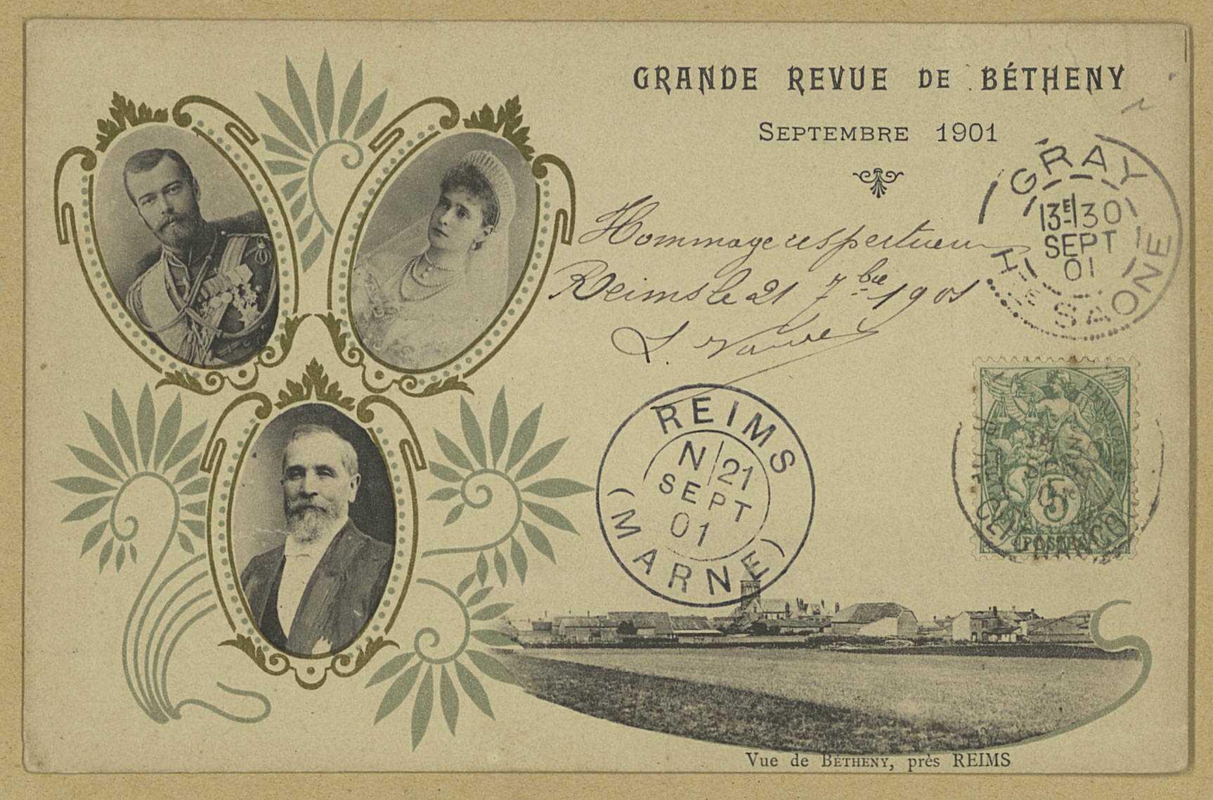 BÉTHENY. Grande revue de Bétheny (sept. 1901). Vue de Bétheny, près de Reims.