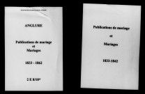 Anglure. Publications de mariage, mariages 1833-1862