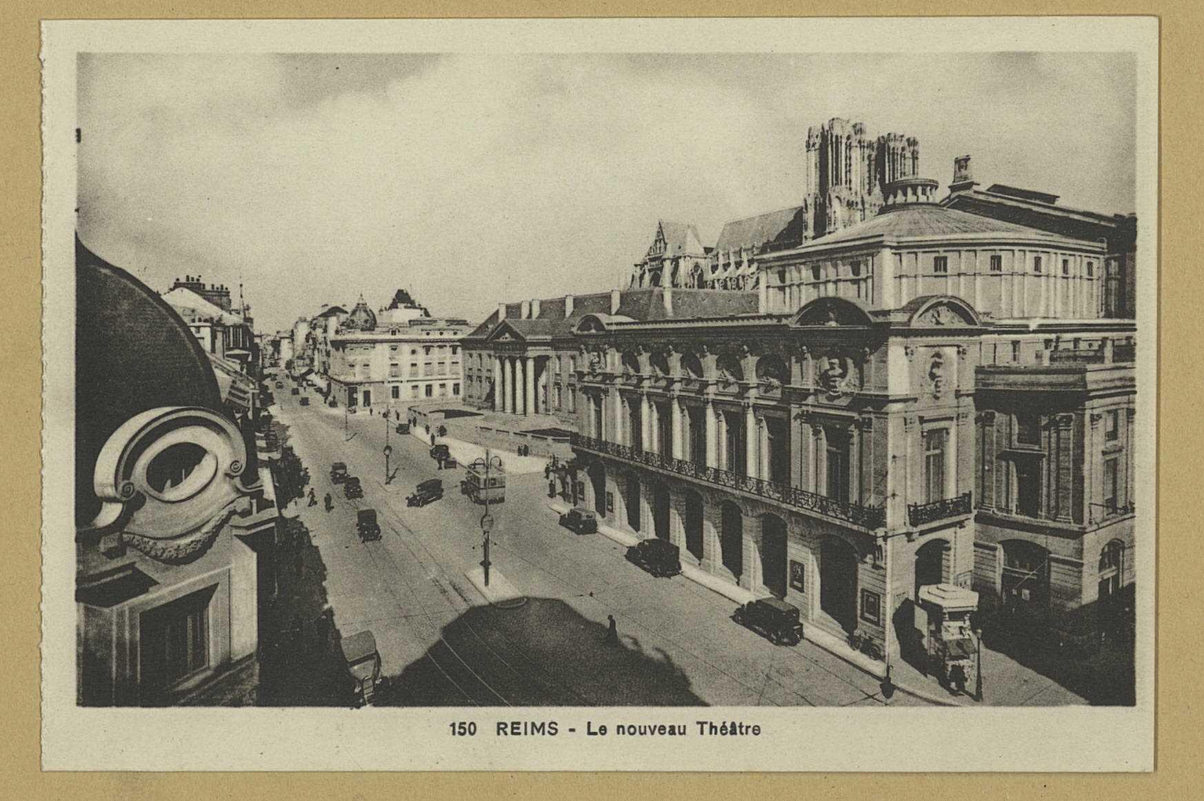 REIMS. 150. Le nouveau théâtre. Strasbourg-Schiltigheim [s.n.] ([S.l.] Cie des Arts Photomécaniques). Sans date