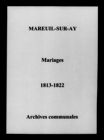 Mareuil-sur-Ay. Mariages 1813-1822