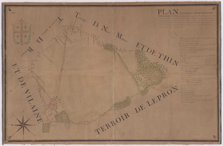 Plan du terroir de Vaux (1789), Macquart