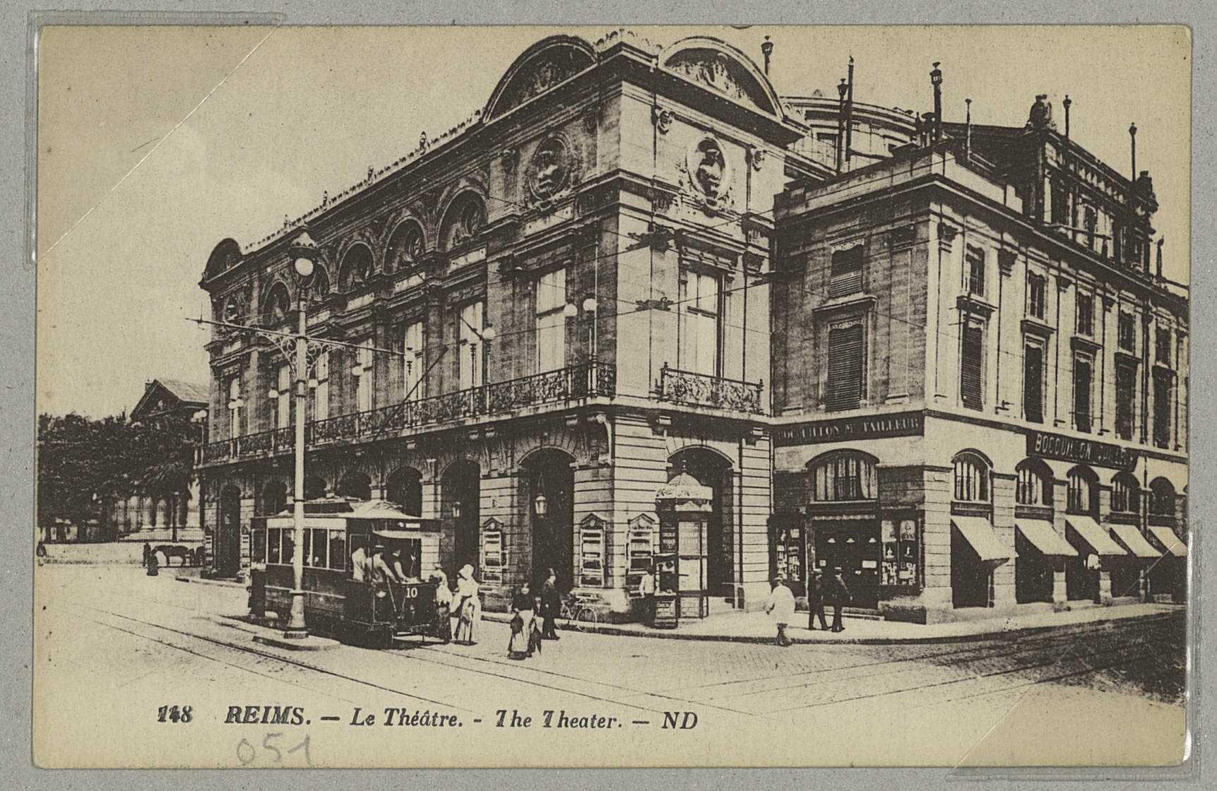 REIMS. 148. Le Théâtre. The Theater / ND. (75 - Paris Lévy et Neurdein réunis). Sans date