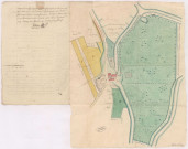 Plan d'arpentage du moulin à eau dit Moulin-l'Abbesse sis à Saint-Brice-Courcelles (1786), Villain