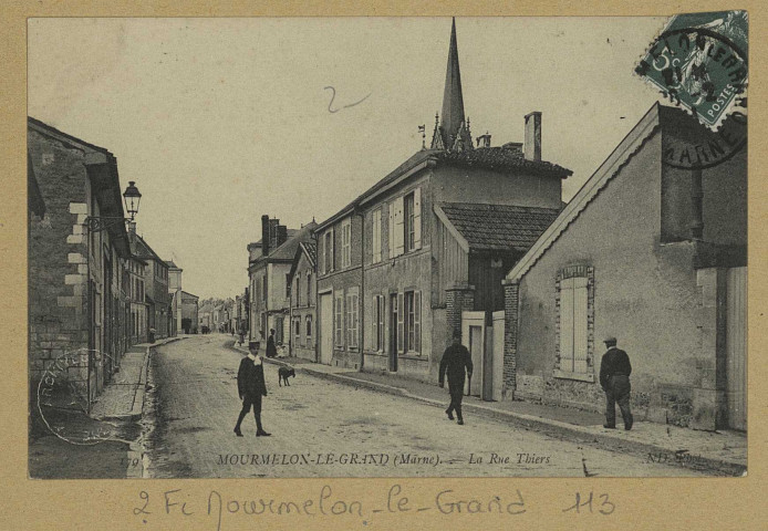 MOURMELON-LE-GRAND. -179-La Rue Thiers / N. D., photographe.