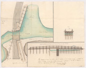 Plans de la reconstruction du pont de Suippe à Saint-Hilaire-le-Grand, 1774.