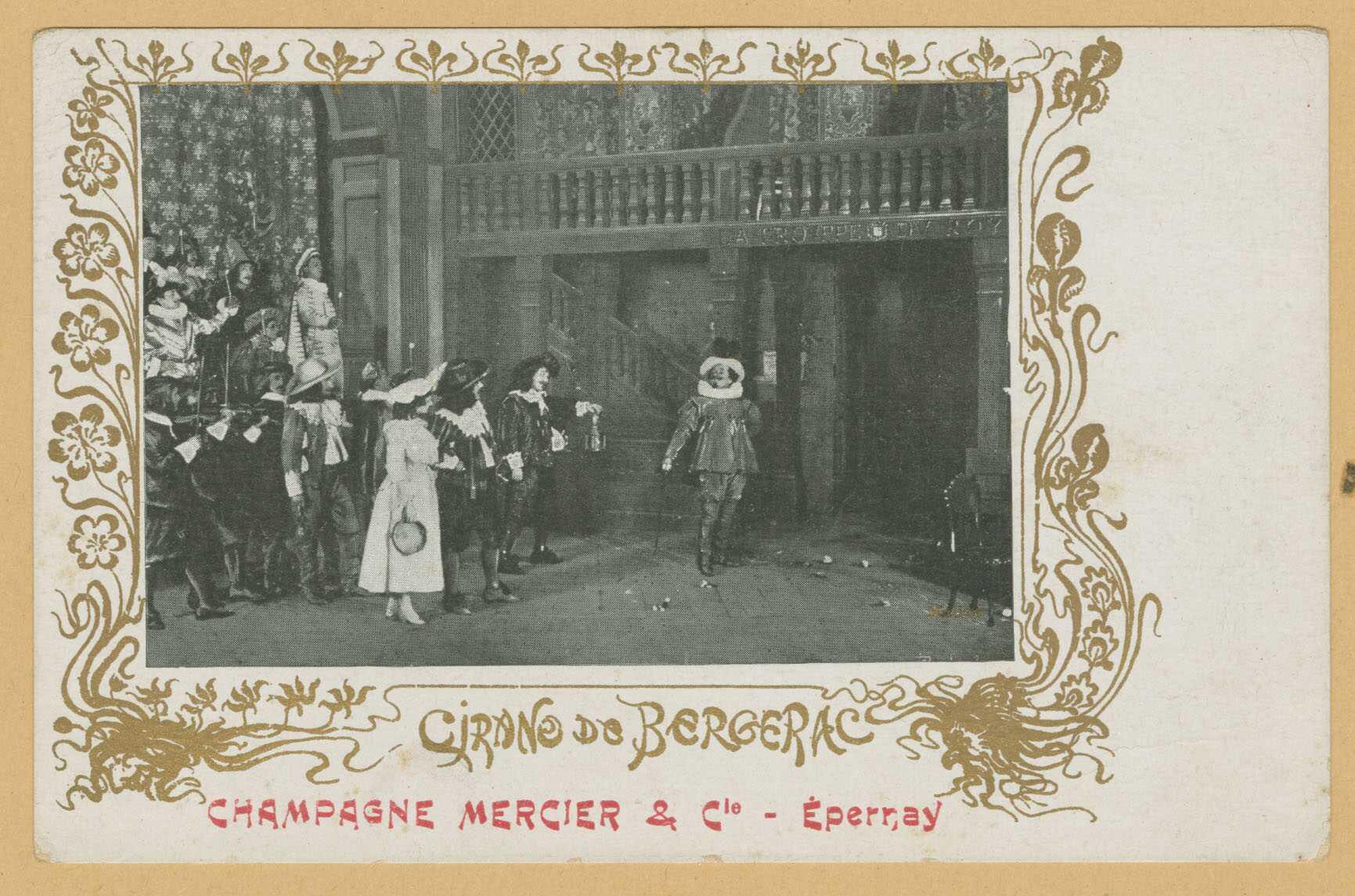ÉPERNAY. Cirano de Bergerac. Champagne Mercier & Cie - Épernay.