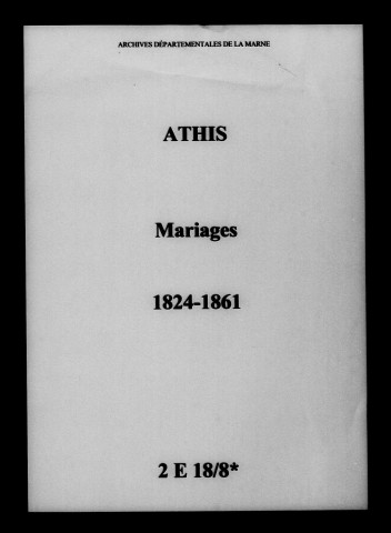 Athis. Mariages 1824-1861